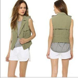 MADEWELL Modern Safari Green Utility Vest Size M
